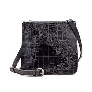 Patricia Nash Metallic Map Granada Crossbody Bag